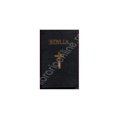Biblia imbracata in piele, aurita