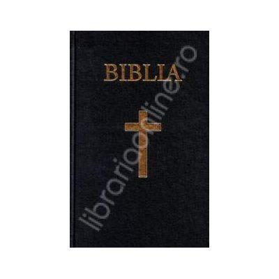 Biblia cu coperta cartonata, aurita. Coperta grena (50823)