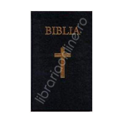 Biblia cu coperta cartonata pe culoarea albastra (50832)