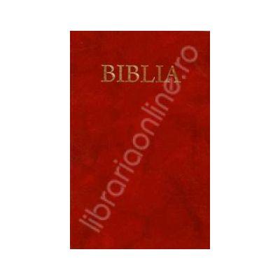 Biblia cu coperta flexibila, aurita pe culoarea grena (50830)
