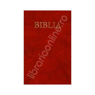 Biblia cu coperta flexibila pe culoarea grena, aurita (50835)