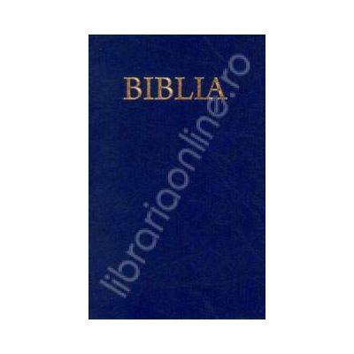 Biblia cu coperti flexibile. Culoarea albastra (50824)