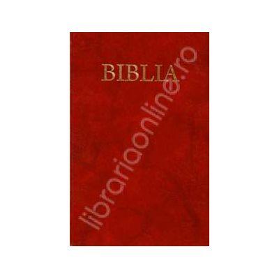 Biblia cu coperta flexibila, aurita. Coperta grena (50825)