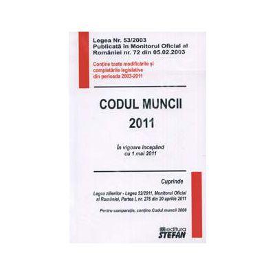 Codul muncii 2011. In vigoare incepand cu 1 mai 2011