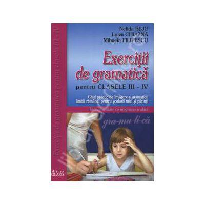 Exercitii de gramatica pentru clasele III-IV