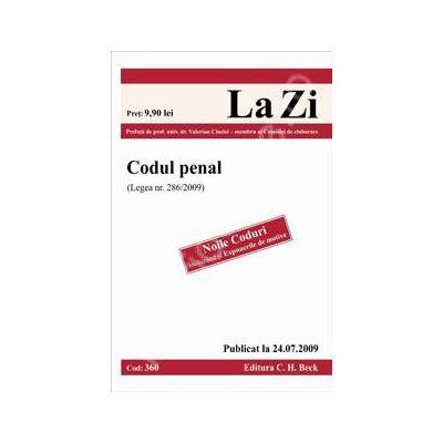 Codul penal (Legea nr. 286/2009)
