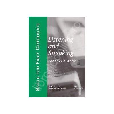 Listening and speaking. Teacher's book