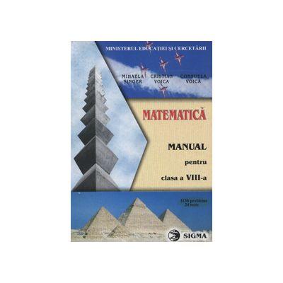 Matematica manual pentru clasa a VIII-a (1130 de probleme, 24 de teste)