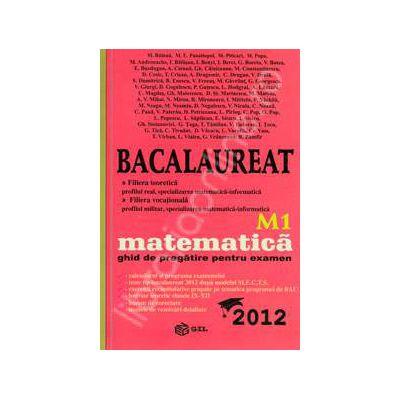 Bac 2012 matematica M1. Bacalaureat 2012 matematica ghid de pregatire pentru examen