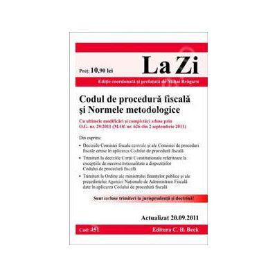 Codul de procedura fiscala si normele metodologice (actualizat 20 septembrie 2011)