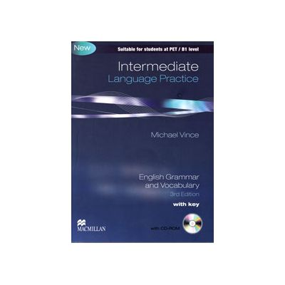 Intermediate Language Practice with key (With Cd-Rom). Suitable for students at PET/B1 level