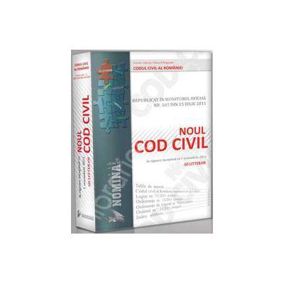 Noul cod civil republicat (Ad literram - editie cartonata, noiembrie 2011)