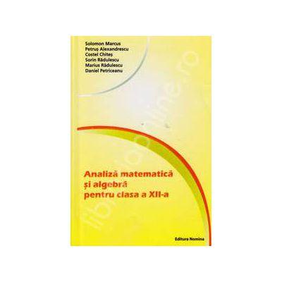 Analiza matematica si algebra pentru clasa a XII-a