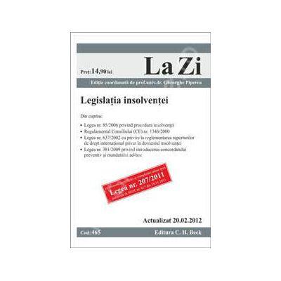 Legislatia insolventei (actualizat la 20.02.2012)