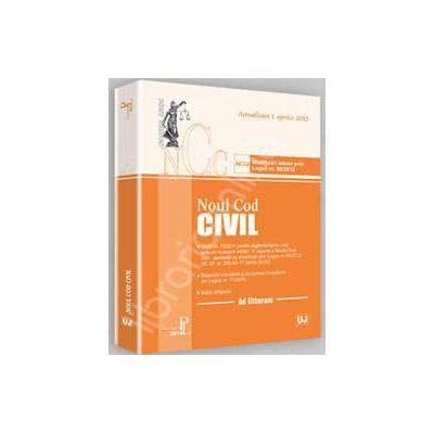 Noul Cod civil. Actualizat la 20 aprilie 2012