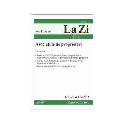 Asociatiile de proprietari (actualizat la 1.04.2012)