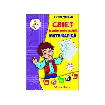 Caiet de scriere pentru gradinita Matematica