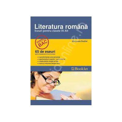 Bacalaureat limba romana. 65 eseuri pentru clasele IX-XII