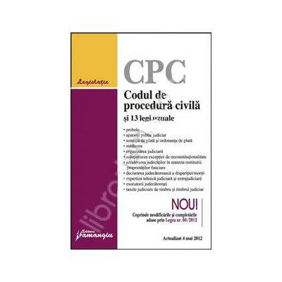 Codul de procedura civila si 13 legi uzuale actualizat la 4 mai 2012
