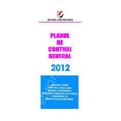 Planul de conturi general 2012 (Aprobat prin OMFP Nr. 3055/2009)