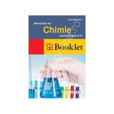 Memorator de Chimie pentru clasele, a IX-a si a XII-a
