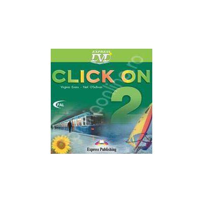Curs de limba engleza Click On 2 - DVD