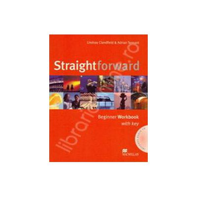Straightforward Beginner Workbook with Answer Key Pack and CD