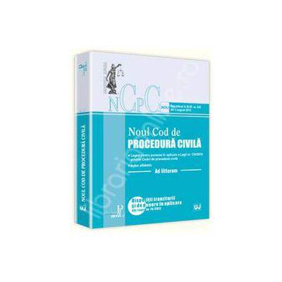 Noul cod de procedura civila. Ad litteram (Republicat in M.Of. nr. 545 din 3 august 2012)