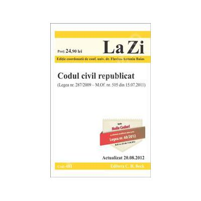 Codul civil republicat (Actualizat la 20. 08. 2012)