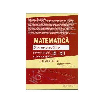 Bacalaureat Matematica 2013. Ghid de pregatire pentru clasele IX-XII (Maro)