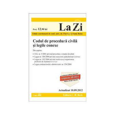 Codul de procedura civila si legile conexe (actualizata la data de 10 septembrie 2012)