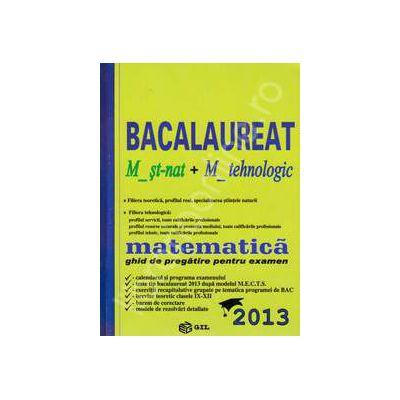 Bac 2013 matematica, M_st-nat + M_tehnologic. Bacalaureat 2013 matematica ghid de pregatire pentru examen