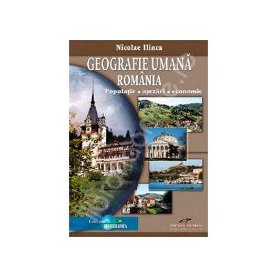 Geografie umana Romania. Populatie, Asezari, Economie