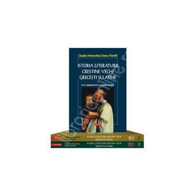 Istoria literaturii crestine vechi grecesti si latine (2 volume, 3 tomuri, editie brosata)