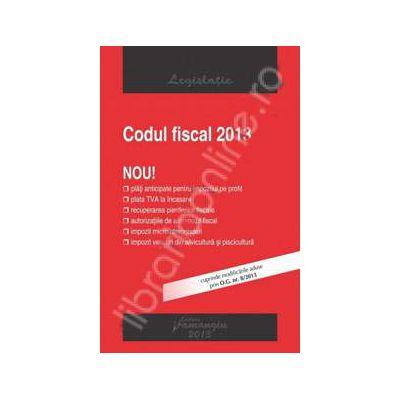 Codul fiscal 2013. Cuprinde modificarile aduse prin O.G. nr. 8/2013