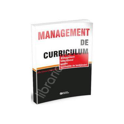 Management de curriculum. Management educational pentru institutiile de invatamant