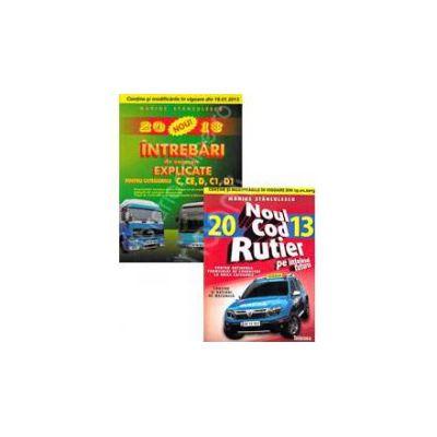 Pachet legislatie rutiera pentru profesionisti. Chestionare auto 2013 pentru categoriile C, CE, D, C1, D1 si Noul cod rutier 2013 pe intelesul tuturor