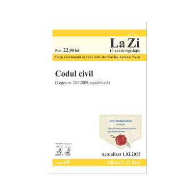 Codul civil (actualizat la data de 1.03.2013)