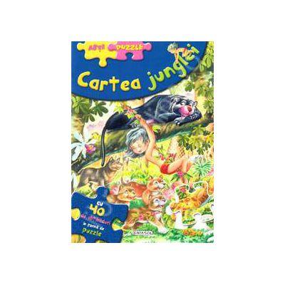 Abti-Puzzle. Cartea junglei - cu 40 de abtibilduri in forma de puzzle