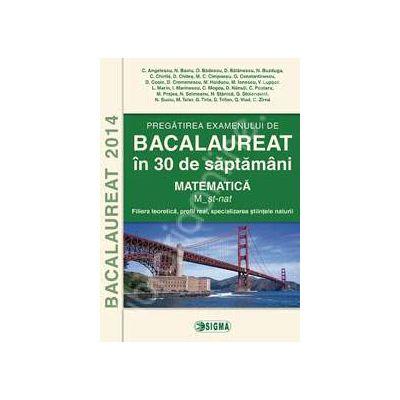 Bacalaureat 2014. Matematica - Filiera teoretica, profil real, specializarea stiintele naturii
