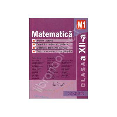 Matematica M1, clasa a XII-a. Culegere de probleme (Marius Burtea)