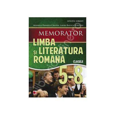 Memorator de limba si literatura romana, pentru clasele V-VIII
