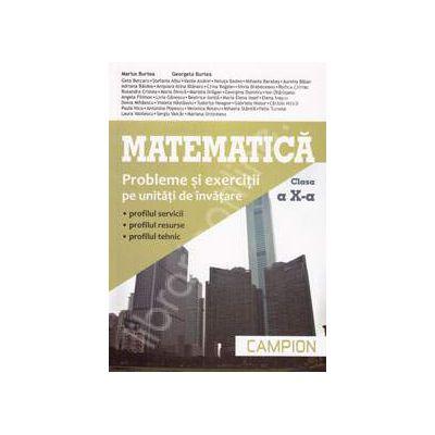 Matematica, M2. Probleme si exercitii pe unitati de invatare, pentru clasa a X-a (Profilul, servicii, resurse, tehnic)