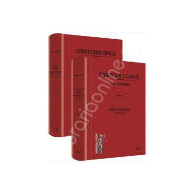 Set Codex Iuris Civilis. Tomul 1+2. Tomul 1 - Noul Cod Civil. Editie critica. Tomul 2 - Legi Conexe. (derogatorii si complementare) Noului Cod Civil