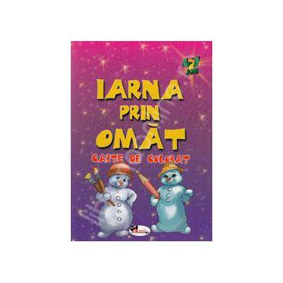 Iarna prin omat (Carte de colorat 4-7 ani)