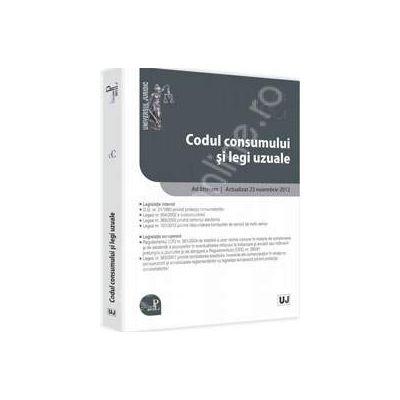 Codul consumului si legi uzuale Ad litteram. Actualizat 23 noiembrie 2012