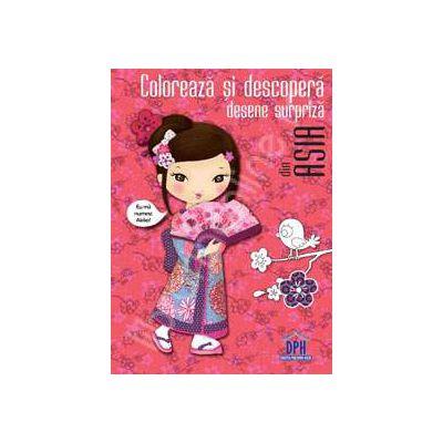 Coloreaza si descopera desene surpriza din Asia