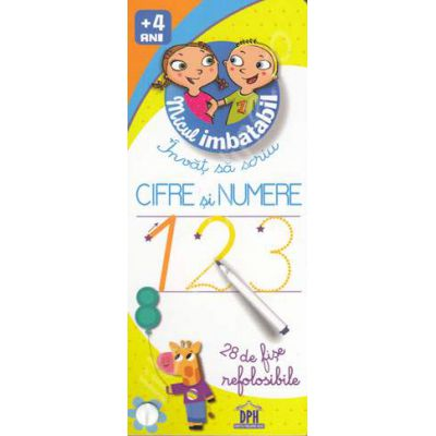 Invat sa scriu Cifre si Numere - 28 de fise refolosibile (Micul Imbatabil)
