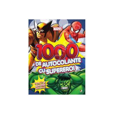 1000 de autocolante cu supereroi. Peste 75 de activitati distractive