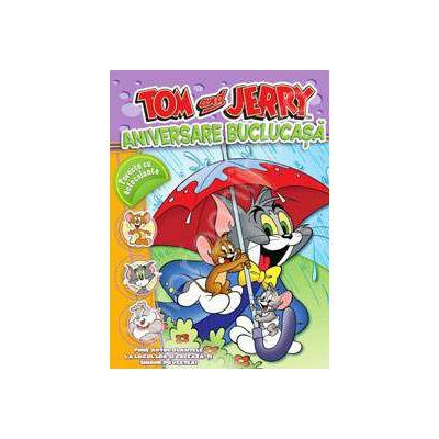Tom si Jerry. Aniversare Buclucasa. Poveste cu autocolante